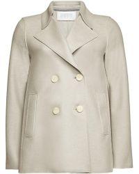 Harris Wharf London - Virgin Wool Pea Coat - Lyst