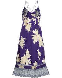 Zadig & Voltaire - Roses Blossom Printed Silk Dress With Lace - Lyst