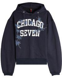 OAMC - Sweat à capuche en coton imprimé et brodé Chicago Seven - Lyst