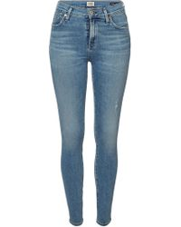 Citizens of Humanity - High Rise Skinny Jeans Rocket - Lyst