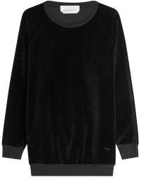 Chloé - Velvet Sweatshirt - Lyst