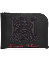Alexander McQueen - Zipped Cotton Pouch - Lyst