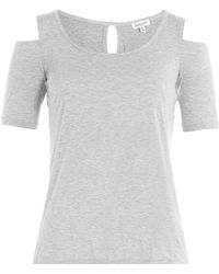 Splendid - Jersey Top With Cut-out Detail - Lyst