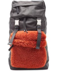 Marni - Backpack With Shearling - Lyst