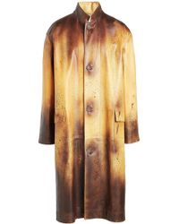 CALVIN KLEIN 205W39NYC - Printed Leather Coat - Lyst