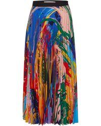 Mary Katrantzou - Paint Splash Print Pleated Midi Skirt - Lyst
