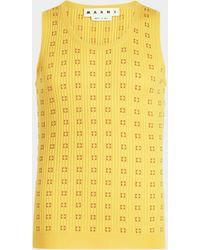 Marni Tank Top aus Baumwolle - Gelb