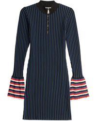 Emilio Pucci - Striped Knit Dress With Contrast Cuffs - Lyst