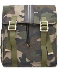 Valentino - Camouflage Printed Backpack With Leather - Lyst