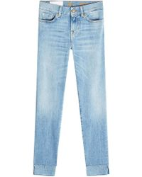 7 For All Mankind - Cropped Skinny Jeans Roxanne - Lyst