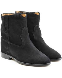 Isabel Marant - Suede Wedge Heel Ankle Boots - Lyst