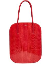 Nina Ricci | Snakeskin And Leather Tote | Lyst