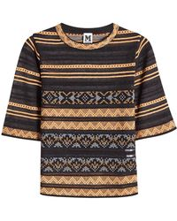 M Missoni - Knit Top With Cotton - Lyst