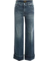 The Seafarer - Wide Leg Jeans With Cropped Ankle - Lyst