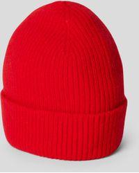 Le Bonnet Beanie in Ripp-Optik - Rot