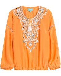 Taj - Beaded Silk Top - Lyst