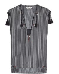 Étoile Isabel Marant - Sleeveless Cotton Top With Tassels - Lyst