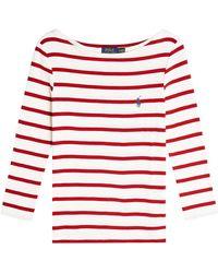 Polo Ralph Lauren - Striped Cotton Top - Lyst
