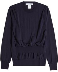 Comme des Garçons - Wool Pullover With Gathered Waist - Lyst