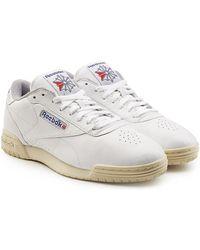 7add4d0cef463c Reebok - Exofit Lo Clean Vintage Leather Sneakers - Lyst