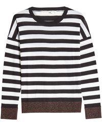 Rag & Bone | June Striped Merino Wool And Metallic Thread Pullover | Lyst