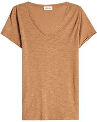 American Vintage - V-neck T-shirt With Cotton - Lyst