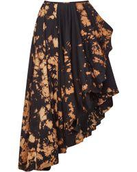 Marques'Almeida - Asymmetric Tie-dyed Cotton Wrap Midi Skirt - Lyst
