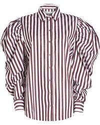 Marques'Almeida - Striped Puff Sleeve Shirt - Lyst