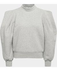 Agolde Pullover mit Puffärmeln - Grau
