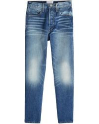 FRAME - Cropped Straight Leg Jeans - Lyst