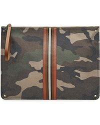 Valentino - Rockstud Camouflage Printed Pouch With Leather - Lyst