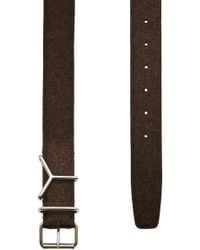 Y. Project - Y Belt In Leather And Wool - Lyst