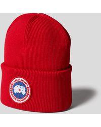 Canada Goose Mütze mit Brand-Detail - Rot