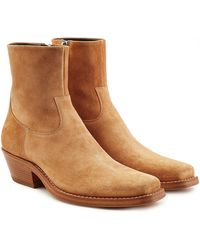 CALVIN KLEIN 205W39NYC - Western Tod Suede Ankle Boots - Lyst