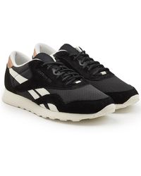 Reebok - Classic Sneakers With Fabric And Suede - Lyst