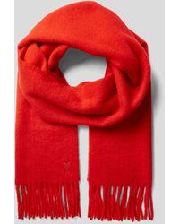 AMI Schal mit Label-Stitching - Rot