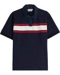 Marni | Cotton Polo Shirt With Colorblock Stripe | Lyst
