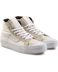Vans - Og 138 Sk8 High Top Canvas Trainers With Leather - Lyst