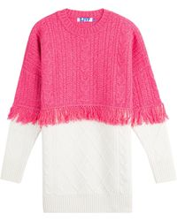 SJYP - Wool Pullover With Fringed Trim - Lyst