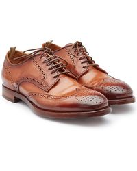 Officine Creative - Leather Lace-ups With Brogue Detailing - Lyst