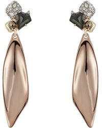 Alexis Bittar - 10kt Gold Earrings With Green Amethyst, Pyrite And Crystals - Lyst