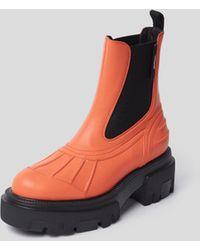 MSGM Chelsea Boots mit Plateausohle - Orange