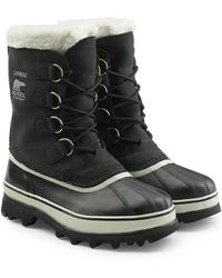 Sorel | Caribou Suede And Rubber Short Boots | Lyst