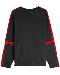 Public School - Cotton Sweatshirt With Velvet - Lyst