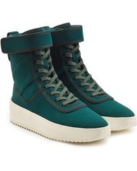 Fear Of God - Military Lace-up Boots With Velcro Strap - Lyst