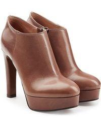 L'Autre Chose - Leather Platform Ankle Boots - Lyst