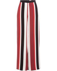 Zeus+Dione - Wide Leg Striped Silk Pants - Lyst