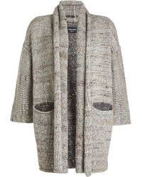 Zadig & Voltaire - Cardigan With Wool, Alpaca, Silk And Mohair - Lyst