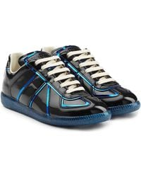 Maison Margiela - Patent Leather Trainers With Metallic Trims - Lyst