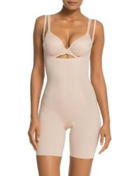 Spanx - Thinstincts Targeted Open-bust Shapesuit - Lyst